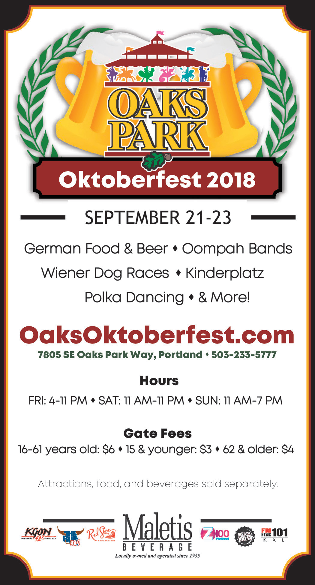 German Food & Beer Oompah Bands Festival in Portland, OR