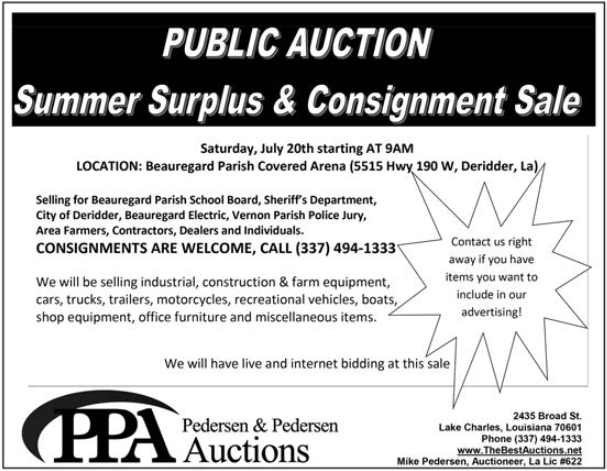 Industrial & Farm Equipment Auction in Lake Charles, LA, Auction